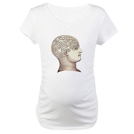 Victorian Phrenology Maternity T-Shirt