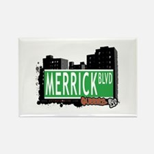 MERRICK BOULEVARD, QUEENS, NYC Rectangle Magnet