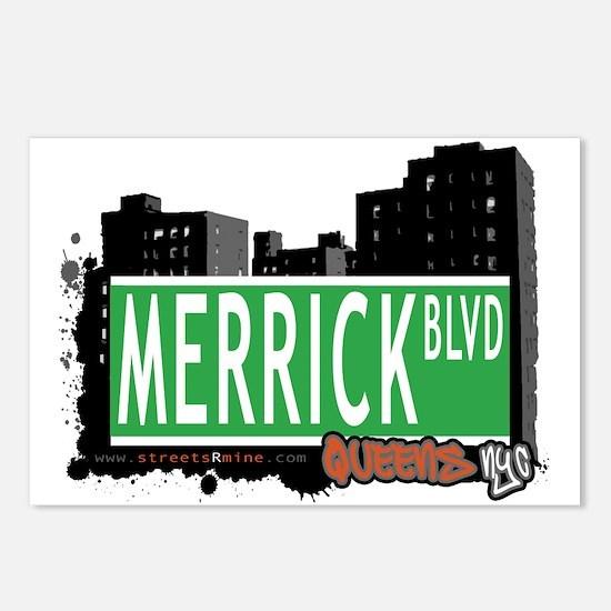 MERRICK BOULEVARD, QUEENS, NYC Postcards (Package