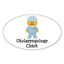 Otolaryngology Chick Oval Decal