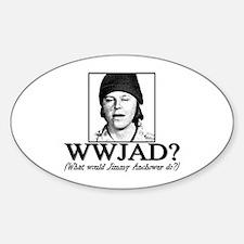 WWJAD? Oval Decal