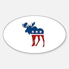Sarah Palin Moose Oval Decal