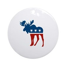 Sarah Palin Moose Ornament (Round)