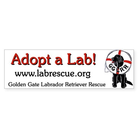 GGLRR LabRescue Bumper Sticker