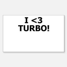 I <3 TURBO - Rectangle Sticker by BoostGear.c