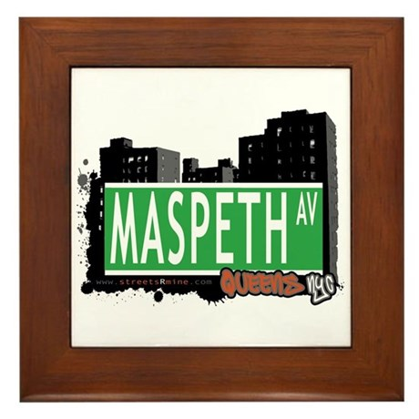 MASPETH AVENUE, QUEENS, NYC Framed Tile