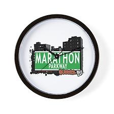 MARATHON PARKWAY, QUEENS, NYC Wall Clock