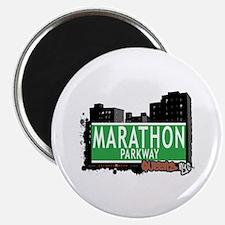 "MARATHON PARKWAY, QUEENS, NYC 2.25"" Magnet (10 pac"