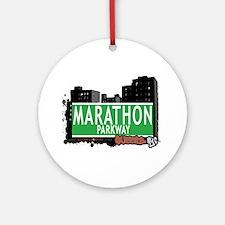 MARATHON PARKWAY, QUEENS, NYC Ornament (Round)