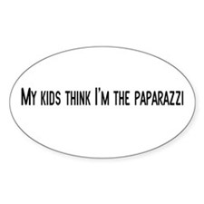 Paparazzi Oval Decal
