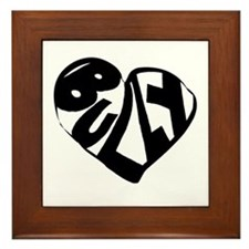 Bully Lover Framed Tile