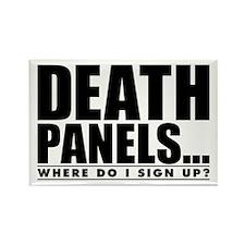 Obama Care Death Panels? Rectangle Magnet (10 pack