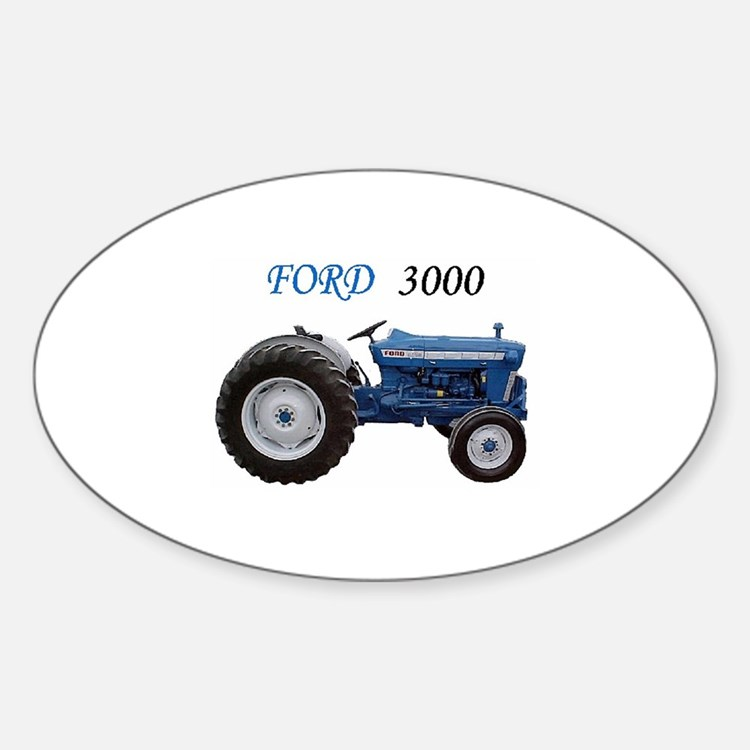 3000 Ford Bumper : Blue tractor bumper stickers car decals more