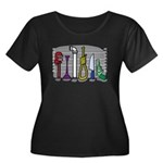 The Usual Suspects Women's Plus Size Scoop Neck Da