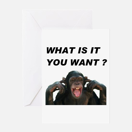 STOP MONKEYING WITH ME Greeting Card