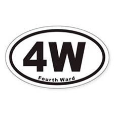 4W Fourth Ward Euro Oval Decal