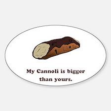 Funny Cannoli Oval Decal