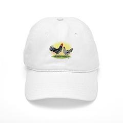 Exchecker Leghorn Chickens Baseball Cap