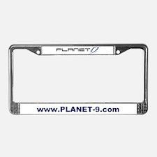 Planet 9 Logo License Plate Frame