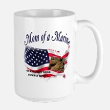 Mom of a Marine Large Mug