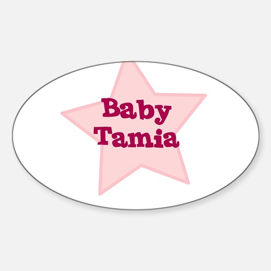 Baby Tamia Oval Decal