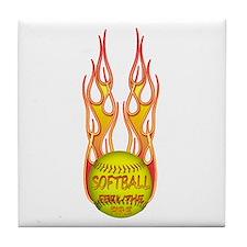 Feel the fire Tile Coaster