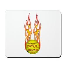 Feel the fire Mousepad