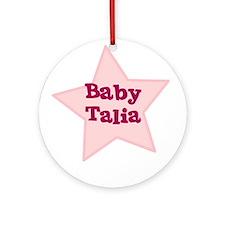 Baby Talia Ornament (Round)