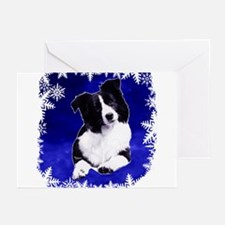 border collie holiday designs Greeting Cards (Pk o