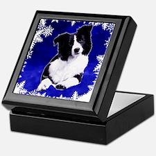 border collie holiday designs Keepsake Box