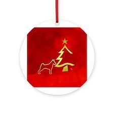 basenji happy holidays Ornament (Round)