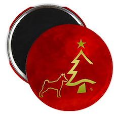 basenji happy holidays Magnet