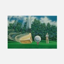 Fore! Golf Swing In Motion Rectangle Magnet