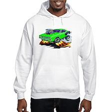 1971-72 Hemi Cuda Green Car Hoodie