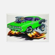1971-72 Hemi Cuda Green Car Rectangle Magnet