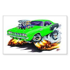 1971-72 Hemi Cuda Green Car Rectangle Decal