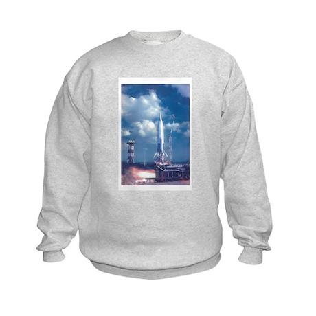Liftoff! Rockets In Space Kids Sweatshirt