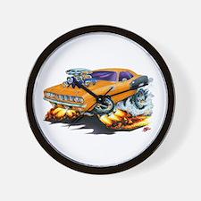 1971-72 Hemi Cuda Orange Car Wall Clock