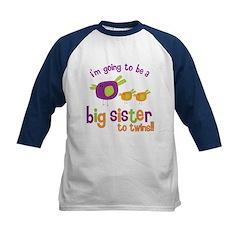 big sister of twins t-shirt Kids Baseball Jersey