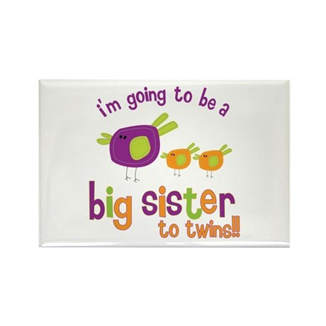 big sister of twins t-shirt Rectangle Magnet
