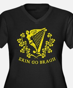 Erin Go Bragh Women's Plus Size V-Neck Dark T-Shir
