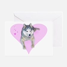 Heart Husky Greeting Card