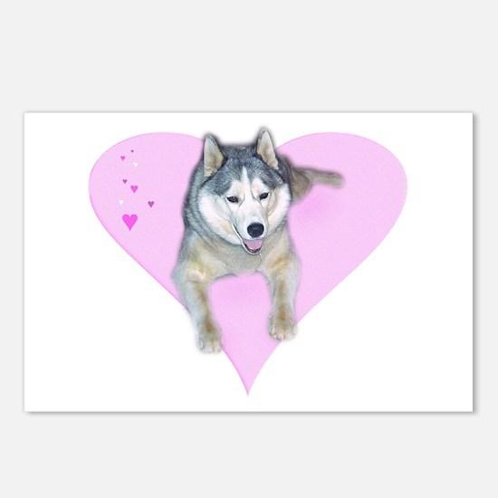 Heart Husky Postcards (Package of 8)