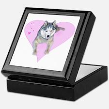 Heart Husky Keepsake Box
