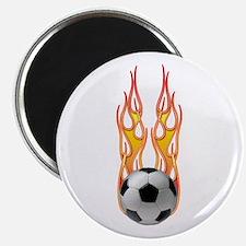Soccer fire Magnet