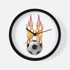 Soccer fire Wall Clock