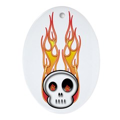 Fire 2 Oval Ornament