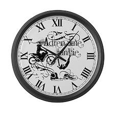 Adrenaline Junkie Large Wall Clock