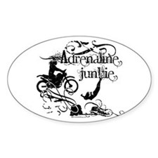 Adrenaline Junkie Oval Decal