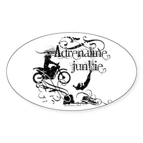 Adrenaline Junkie Oval Sticker